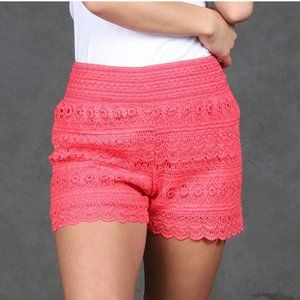New Mix coral Pink pretty lace shorts